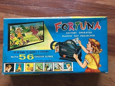 FORTUNA BATTERY OPERATED PLASTIC TOY PROJECTOR 1960's VINTAGE TOY