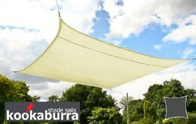 Kookaburra 2m Square Ivory Party Sail Shade Woven Water Resistant High Density
