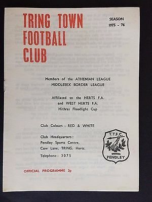 9th Oct 1975 Tring Town v West Ham United  Floodlight Opening Mint Condition