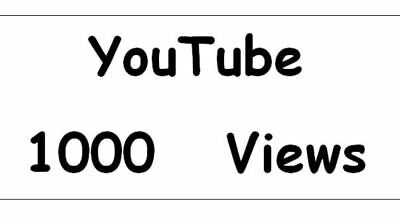 1000 Views für ihr Youtub Video