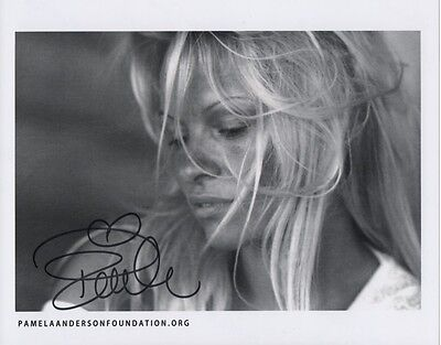 PAMELA ANDERSON Signed Photo & TShirt from Charity LOA