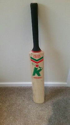"peter kippax cricket bat ""trusty"""