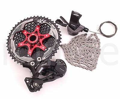 4pcs Shimano XT M8000 1x11 Speed Group set,Derailleur+SunRace Cassette 46T Black