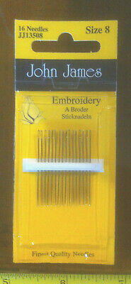 John James Size 8 Tapestry Needles x16 Sewing Embroidery New