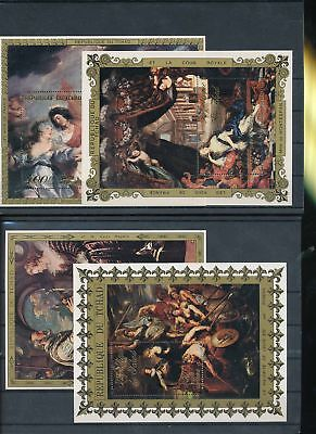 35535/ Kunst Art Gemälde ** MNH  Block Lot Tschad
