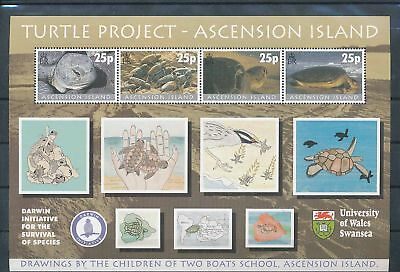 35701/ Ascension ** MNH Block 40 Fauna  Schildkrötenprojekt