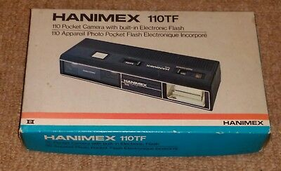 Vintage Hanimex 110TF Pocket Camera with built-in Electronic flash