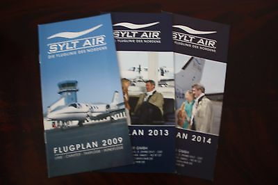 Timetable Flugplan Sylt Air 2009 2013 2014