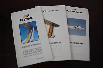 Timetable Flugplan Brymon Airways 1990 1991 1992