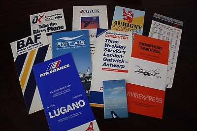 Set European Timetable Air Uk Aviaexpress Aurigny Baf Crossair British Cal Sata