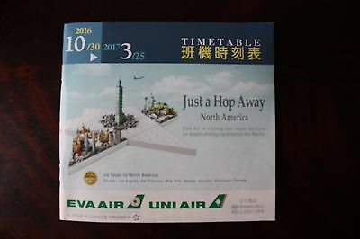 Timetable Flugplan Eva Air 2016/2017