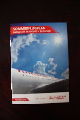 Timetable Flugplan Tunisair Germany 2017