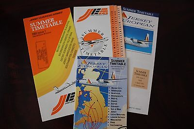 Timetable Flugplan Jersey European Airways 1989 1990 1991 1992
