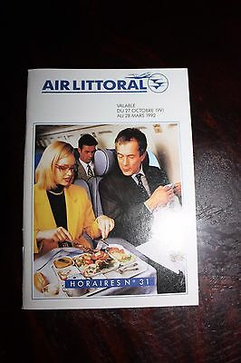 Timetable Flugplan Air Littoral 1991/1992