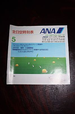 Timetable Flugplan Ana All Nippon Airways & Ank 1992