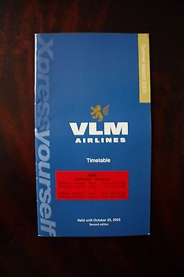 Timetable Flugplan Vlm Airlines 2003 Xpress Yourself