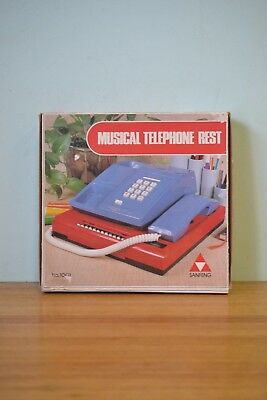 Vintage Kitsch musical telephone rest directory green CPLWT