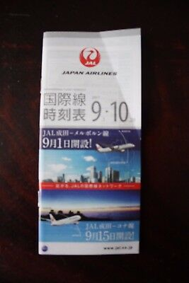 International Timetable Flugplan Jal Japan Airlines September Oktober 2017