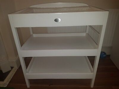 Baby Changing Dresser Station Unit, Baby Changing Table Unit - White