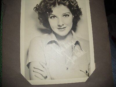 Vintage Genuine Signed Photo of Film/Stage Star from 1930s