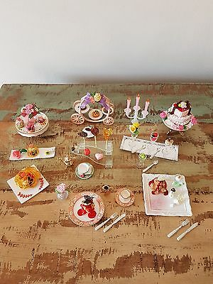 Re-ment Premium Sweets full sets 1-8, rare and hard to find, elegant high tea