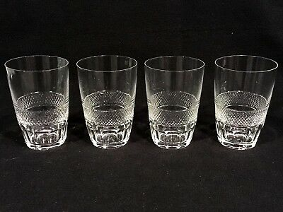 """Set of 4 CUT CRYSTAL 4 5/8"""" DOUBLE OLD FASHIONED GLASSES"""