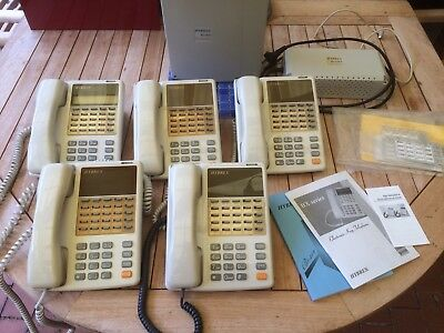 Hybrex BX Telephone System with 4 Handsets