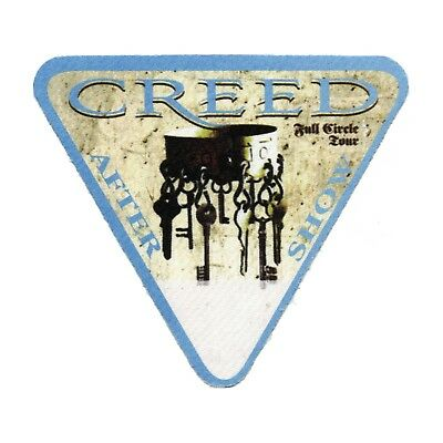 Creed authentic Aftershow 2010 tour Backstage Pass