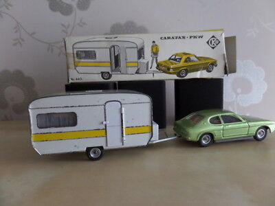 Vintage 70's Toy car & caravan CKO west germany - boxed