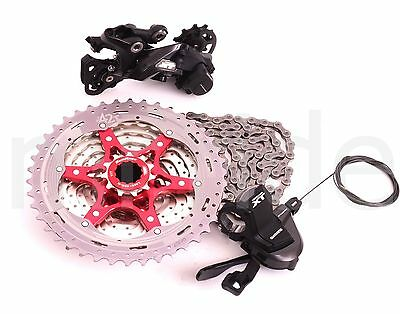 4pc Group set Shimano XT M8000 11S Shifter,Derailleur,Chain+SunRace Cassette 42T