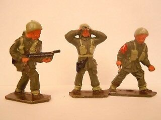 Lone Star Harvey Series Paratroops Airborne  Early 60's late 50's 3 Soldiers