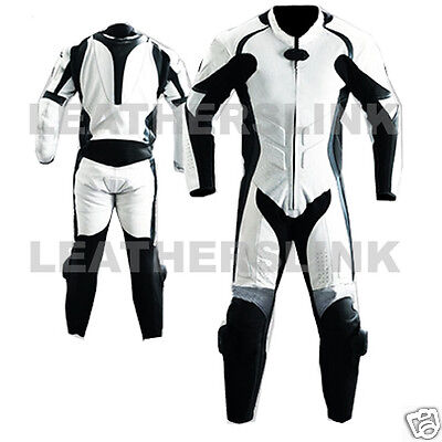 Leather Men Biker Motorcycle Motorbike Racing Leather Suit MST-67(US 46/EUR 56)