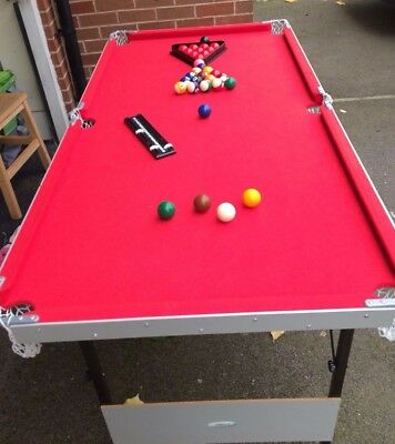 snooker/pool table, 5ft x 2.5ft  with folding legs.