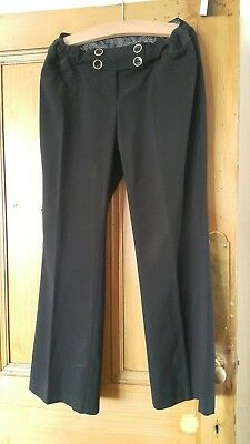 Size 12 New Look Maternity smart/work trousers black