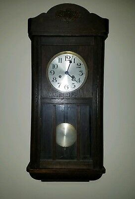Antique Wall Clock Glass Sides