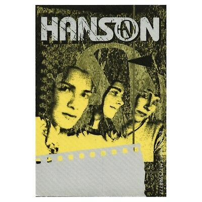 Hanson authentic Staff 2000 tour Backstage Pass