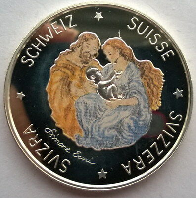 Switzerland 1995 Birth of The Son 20 Ecu Silver Coin,Proof