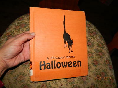 Vintage Halloween Book by Lillie Patterson 1963 A Holiday Book Awesome Graphics