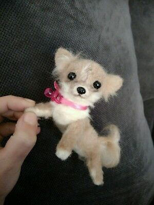 OOAK Needle Felted Chihuahua puppy/dog