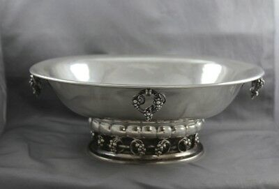 Georg Jensen Sterling Silver Grapes Centerpiece Console Bowl #296