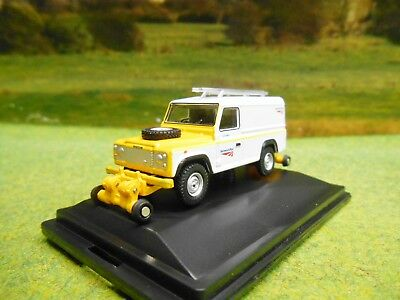 Oxford Rail Landrover Rail Road Defender Hardtop Network Rail 1/76 Or76Ror002
