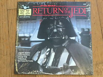 "Star Wars Return of the Jedi 7"" RECORD AND READ-ALONG BOOK - NEVER OPENED"