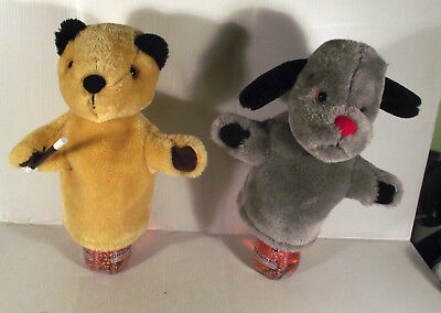 "SOOTY & SWEEP -- 2 x 10""  HAND GLOVE  PUPPET TOY"