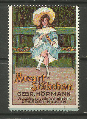 Germany/Dresden Hormann Brothers MOZART STABCHEN advertising stamp/label