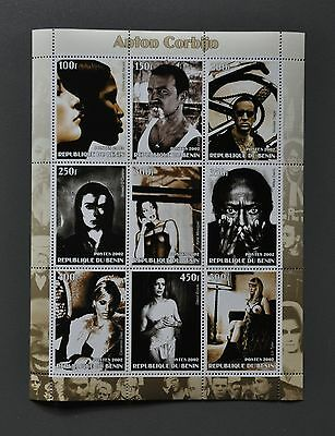 Anton Corbijn Photo Stamp Sheet 2002 U2 David Bowie Christy Turlington Liv Tyler