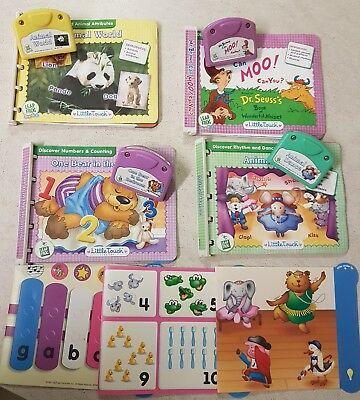leap frog leap pad tiny touch baby books and cartridges