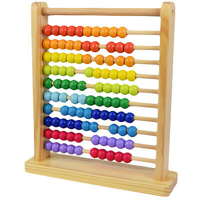 Large Wooden Abacus Counting Number Frame Learning Maths Toy Made of Real Wood