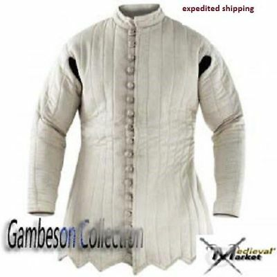 Medieval Gambeson Thick Padded costumes arming jacket for theater- larp / sca