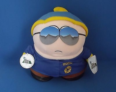 "Vintage 1998 Comedy Central South Park  OFFICER CARTMAN - 10"" Plush Toy Tags"