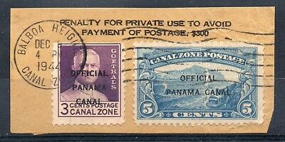 CANAL ZONE = 1941 5c Canal under construction O/P Official (space filler) + 3c